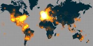 Propagation du hashtag #JeSuisCharlie