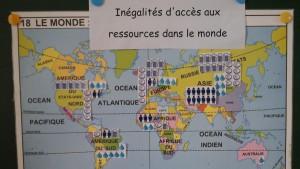 Les inegalites d'acces aux ressources dans le monde