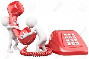 12164277-3D-petites-gens-de-parler-au-t-l-phone-Rendus-haute-r-solution-sur-un-fond-blanc-avec-des-ombres-dif-Banque-d'images