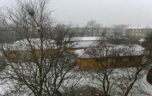 la résidence sous la neige