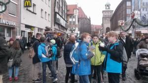 avec les corres´sur le marché de Noel de Nürnberg