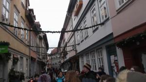 le groupe sur le Krämerbrücke