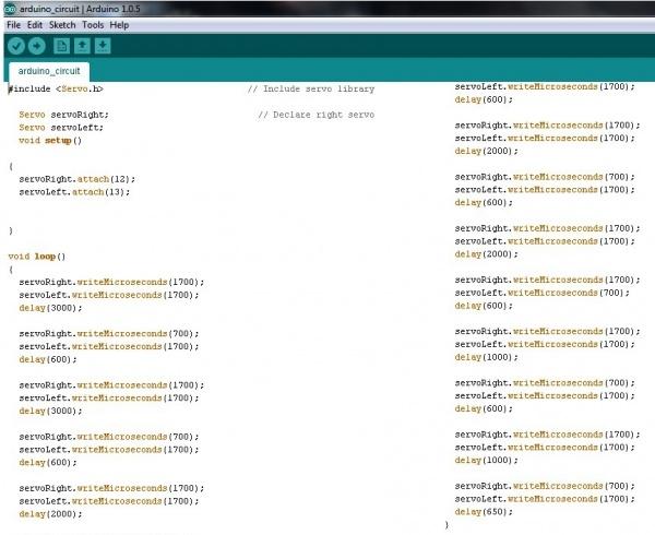 code robot_parallax