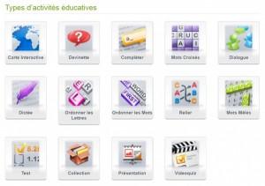 Les 14 activités d'Educaplay