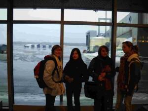 Arrivée à l'aéroport d'Helsinki, le décor est planté, de la neige à perte de vue.