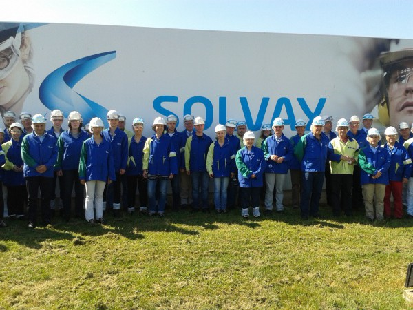 Groupe visite Solvay