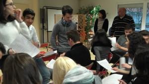 Nos élèves français et tchèques lors des activités de présentation