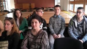 Nos élèves lors de l'accueil le 1er jour