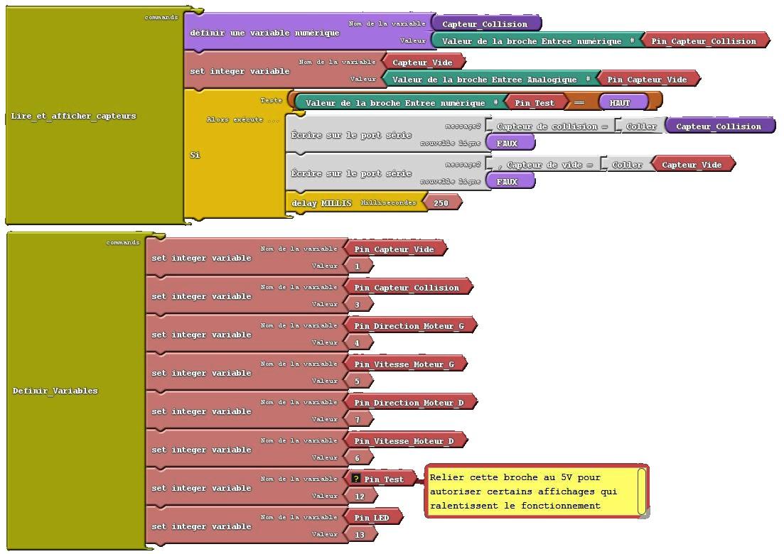6) Capteurs + Moteurs a CC avec Arduino Romeo 140615 Page 3
