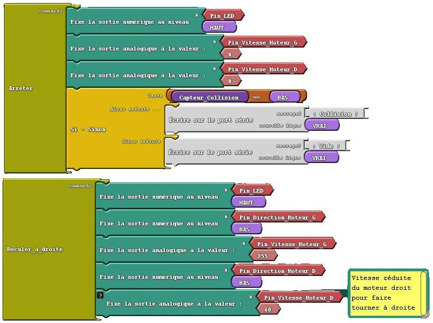 6) Capteurs + Moteurs a cc avec Arduino Romeo 140615 Page 2