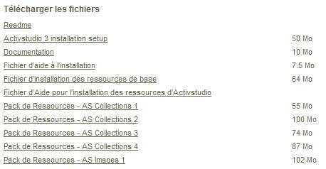 Fichiers à télécharger